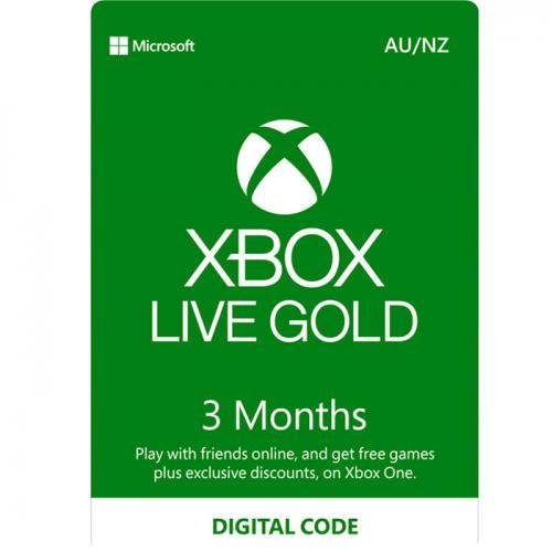 3 Months XBox Live Gold AU/NZ Digital Gift Card 3个月订阅/包月数字充值礼品卡,虚拟卡免快递,E-Mail邮件秒收货!