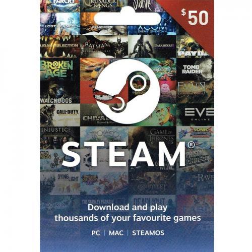 Steam Game Digital Gift Card $50 NZD预付充值礼品卡,虚拟卡免快递,E-Mail邮件秒收货!
