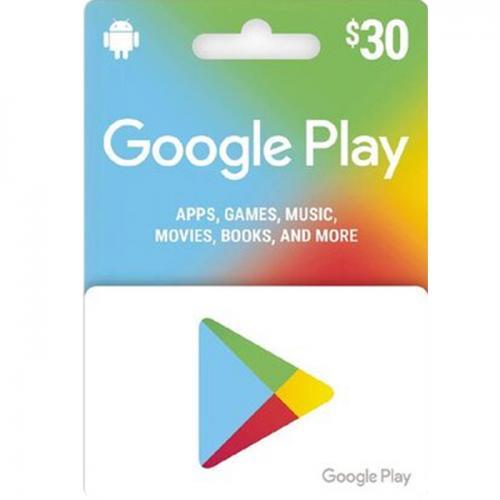 Google Play Digital Gift Cards $30 NZD 数字预付充值礼品卡,虚拟卡免快递,E-Mail邮件秒收货!
