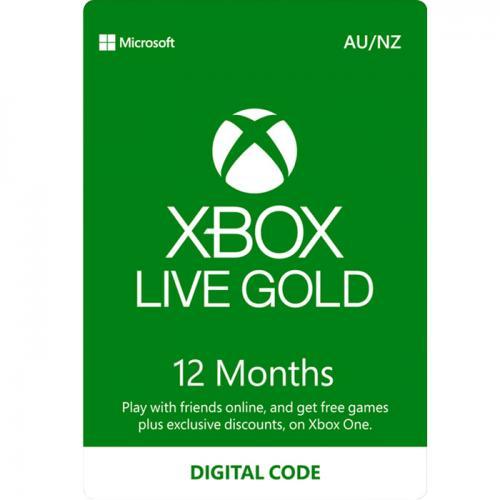 12 Months XBox Live Gold AU/NZ Digital Gift Card 12个月订阅/包月数字充值礼品卡,虚拟卡免快递,E-Mail邮件秒收货!