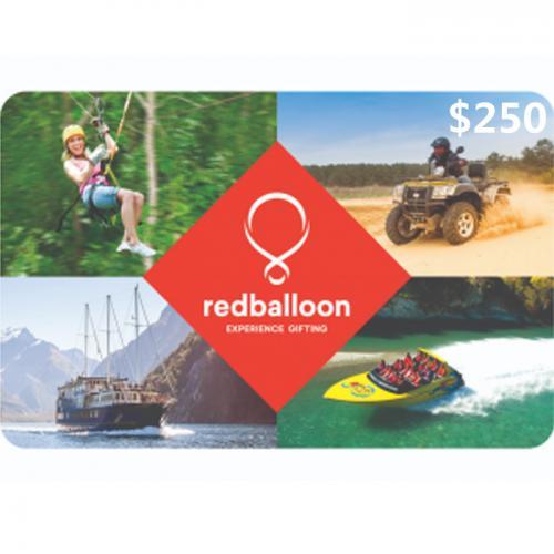 Red Balloon eVoucher $250 NZD 数字预付充值礼品卡,免物流,秒收货!