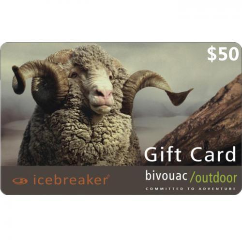 Bivouac Outdoor Physical Gift Card $50 NZD 预付充值礼品卡,物理卡需快递,闪电发货!