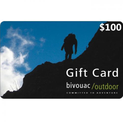 Bivouac Outdoor Physical Gift Card $100 NZD 预付充值礼品卡,物理卡需快递,闪电发货!