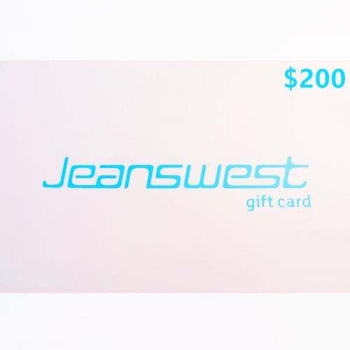 Jeanswest Physical Gift Card $200 NZD 预付充值礼品卡,物理卡需快递,闪电发货!