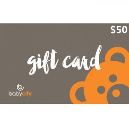 Baby City Physical Gift Card $50 NZD 预付充值礼品卡,物理卡需快递,闪电发货!