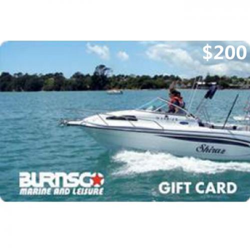 Burnsco Physical Gift Card $200 NZD 数字预付充值礼品卡,物理卡需快递,闪电发货!