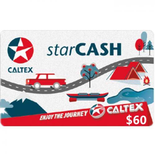 Caltex StarCash Physical Gift Card $60 NZD 预付充值礼品卡,物理卡需快递,闪电发货!