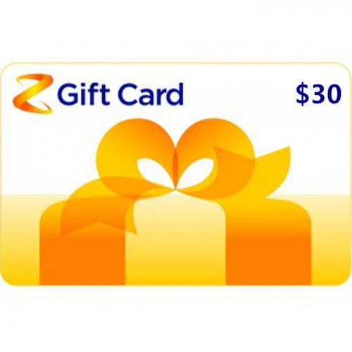 Z Energy Physical Gift Card $30 NZD 预付充值礼品卡,物理卡需快递,闪电发货!