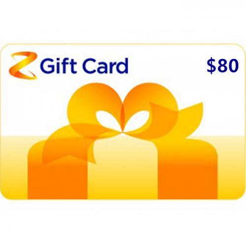 Z Energy Physical Gift Card $80 NZD 预付充值礼品卡,物理卡需快递,闪电发货!