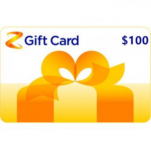 Z Energy Physical Gift Card $100 NZD 预付充值礼品卡,物理卡需快递,闪电发货!