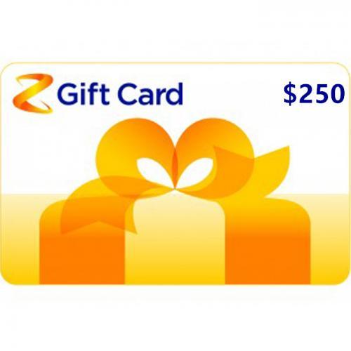 Z Energy Physical Gift Card $250 NZD 预付充值礼品卡,物理卡需快递,闪电发货!