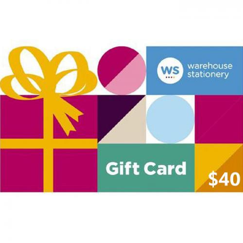 Warehouse Stationery Physical Gift Card $40 NZD 预付充值礼品卡,物理卡需快递,闪电发货!