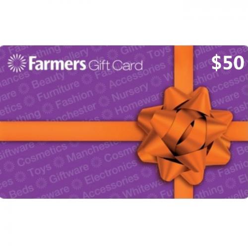 Farmers Physical Gift Card $50 NZD 预付充值礼品卡,物理卡需快递,闪电发货!