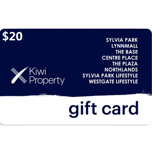 Kiwi Property Gift Cards $20 NZD 数字预付充值礼品卡,免物流,秒收货!