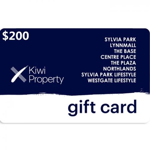 Kiwi Property Gift Cards $200 NZD 数字预付充值礼品卡,免物流,秒收货!