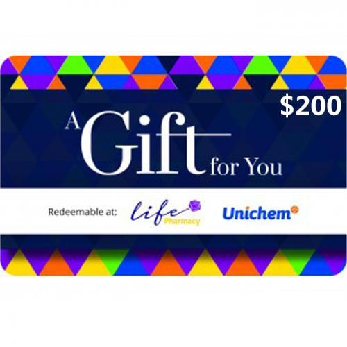 Pharmacy Physical Gift Card $200 NZD 预付充值礼品卡,物理卡需快递,闪电发货!