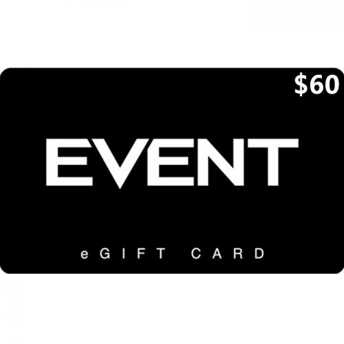 EVENT Cinemas Digital eGift Card $60 NZD 数字预付充值礼品卡,虚拟卡免快递,E-Mail邮件秒收货!