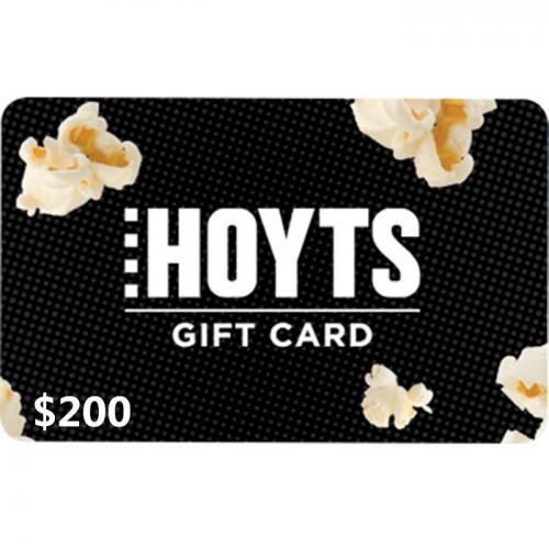 Hoyts Cinemas Digital E-Gift Card $200 NZD 数字预付充值礼品卡,虚拟卡免快递,E-Mail邮件秒收货!