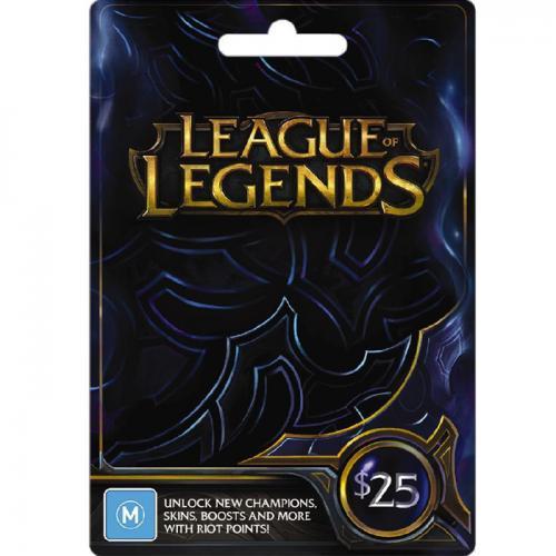 League of Legends Game $25 NZD Digital Gift Card  LOL数字预付充值游戏礼品卡,虚拟卡免快递,E-Mail邮件秒收货!