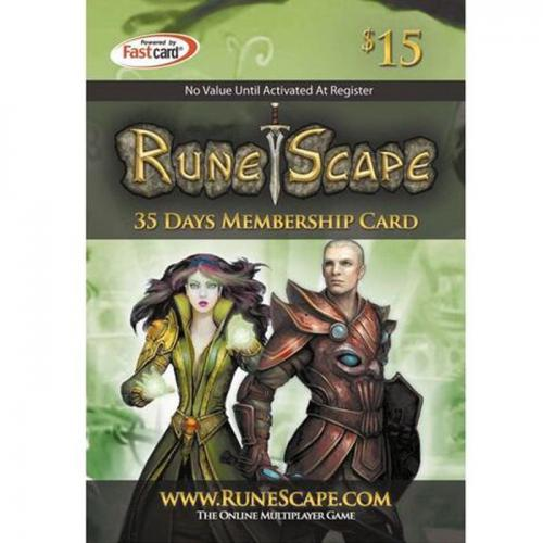 Runescape Gift Card $15 NZD 数字预付充值35天会员礼品卡,免物流,秒收货!