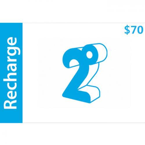 2degrees Mobile Prepay Digital Gift Card $70 NZD 数字预付充值礼品卡,虚拟卡免快递,E-Mail邮件秒收货!
