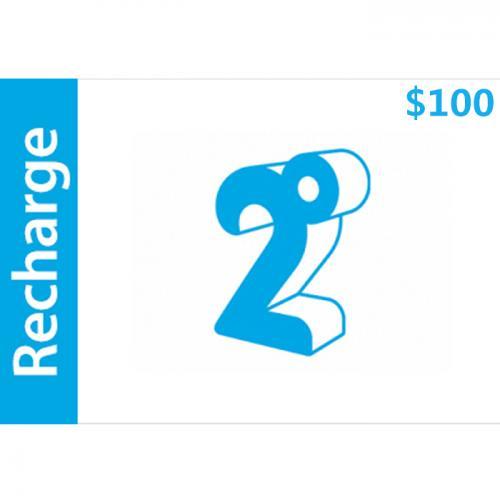 2degrees Mobile Prepay Digital Gift Card $100 NZD 数字预付充值礼品卡,虚拟卡免快递,E-Mail邮件秒收货!
