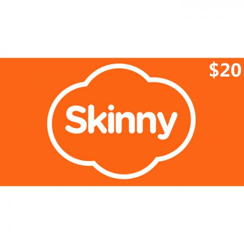 Skinny Mobile Prepay Digital Gift Card $20 NZD 数字预付充值礼品卡,虚拟卡免快递,E-Mail邮件秒收货!