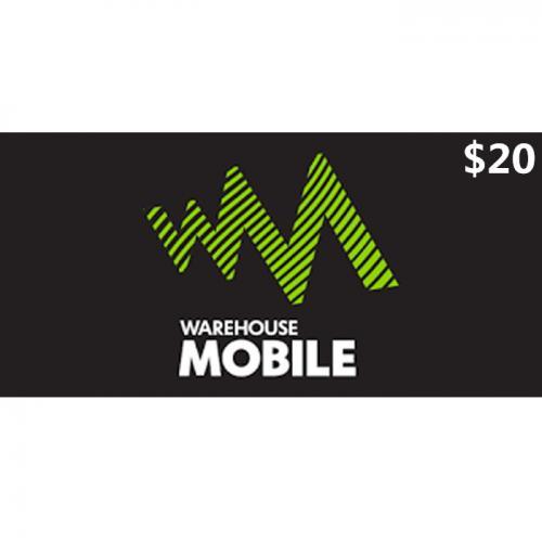 Warehouse Mobile Prepay Digital Gift Card $20 NZD 数字预付充值礼品卡,虚拟卡免快递,E-Mail邮件秒收货!