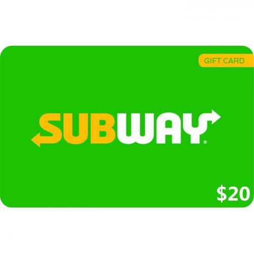 Subway Digital eGift Card $20 NZD 数字预付充值礼品卡,虚拟卡免快递,E-Mail邮件秒收货!