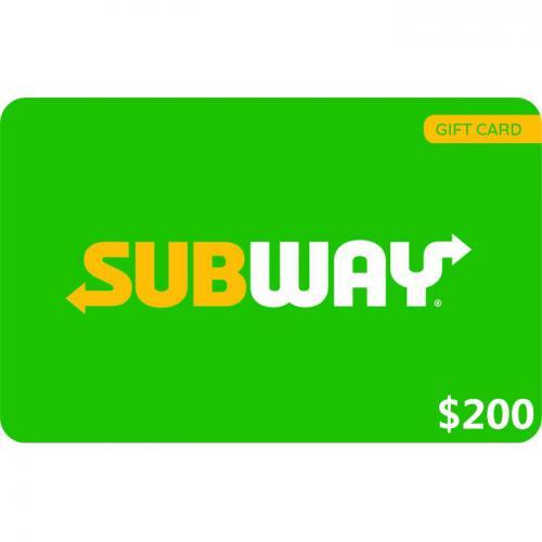 Subway Digital eGift Card $200 NZD 数字预付充值礼品卡,虚拟卡免快递,E-Mail邮件秒收货!