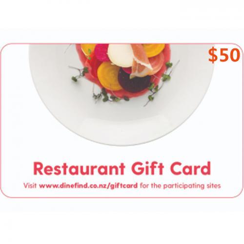 Restaurant Physical Gift Card $50 NZD 预付充值礼品卡,物理卡需快递,闪电发货!