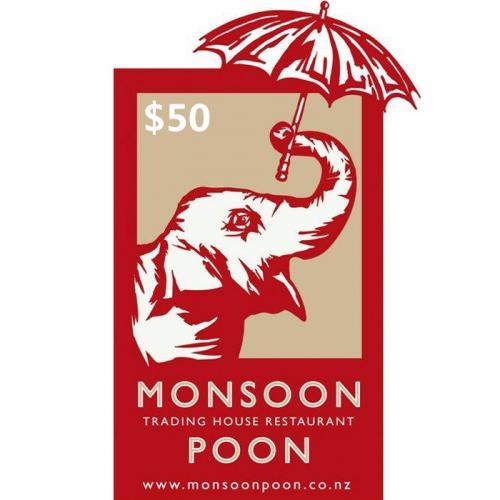 Monsoon Poon Physical Gift Card $50 NZD 预付充值礼品卡,物理卡需快递,闪电发货!