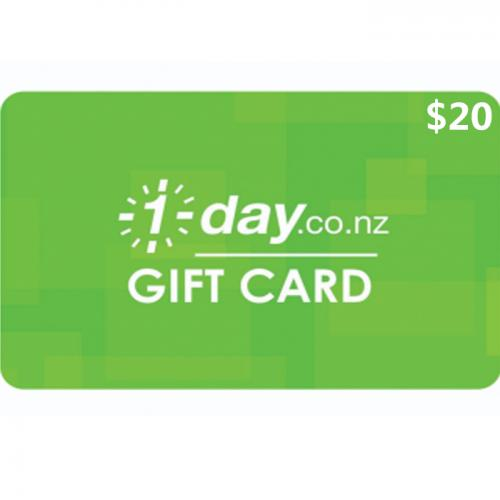 1 Day Physical Gift Card $20 NZD 预付充值礼品卡,物理卡需快递,闪电发货!
