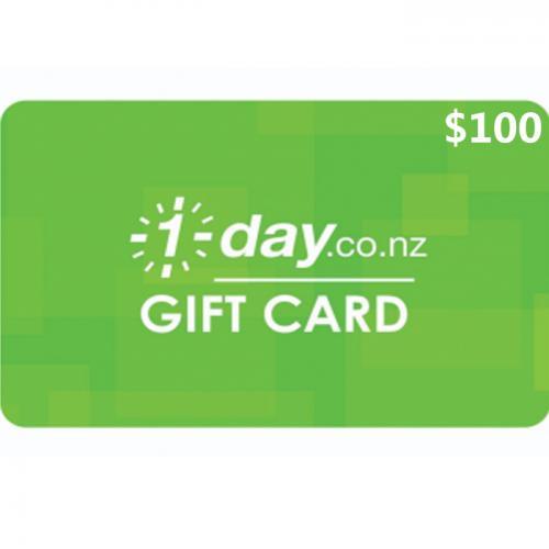 1 Day Physical Gift Card $100 NZD 预付充值礼品卡,物理卡需快递,闪电发货!