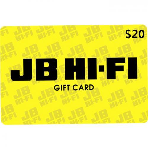 JB Hi-Fi Digital Gift Card $20 NZD 预付充值数字礼品卡,虚拟卡免快递,E-Mail邮件秒收货!