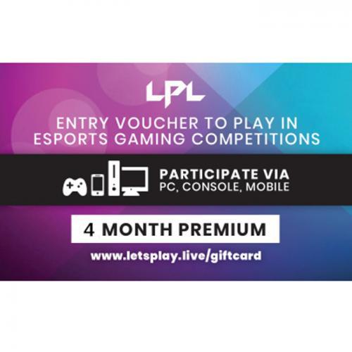 Let'sPlay.Live 4 months Premium Pass Digital Gift Card 4个月订阅/包月数字礼品卡,免物流,秒收货!