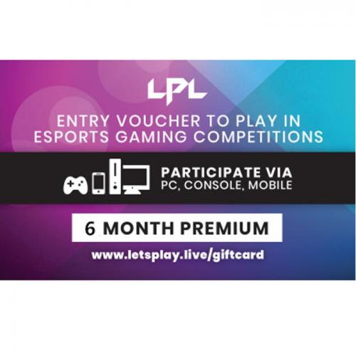Let'sPlay.Live 6 months Premium Pass Digital Gift Card 6个月订阅/包月数字礼品卡,免物流,秒收货!