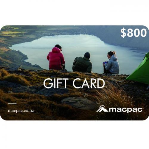 Macpac Physical Gift Card $800 NZD 预付充值礼品卡,物理卡需快递,闪电发货!