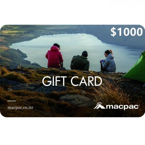 Macpac Physical Gift Card $1000 NZD 预付充值礼品卡,物理卡需快递,闪电发货!
