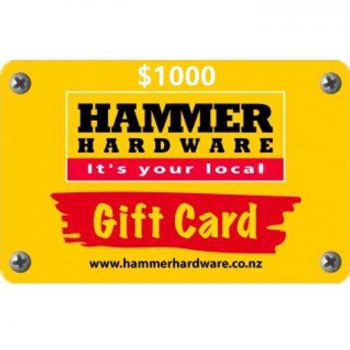 Hammer Hardware Physical Gift Card $1000 NZD 预付充值礼品卡,物理卡需快递,闪电发货!