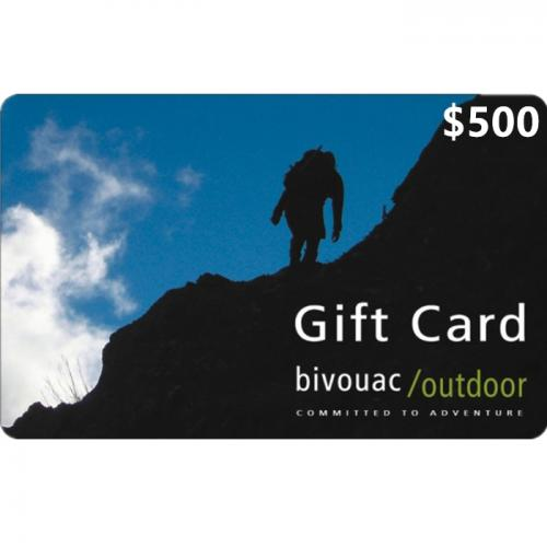 Bivouac Outdoor Physical Gift Card $500 NZD 预付充值礼品卡,物理卡需快递,闪电发货!