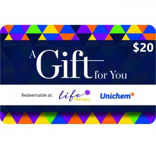 Pharmacy Physical Gift Card $20 NZD 预付充值礼品卡,物理卡需快递,闪电发货!