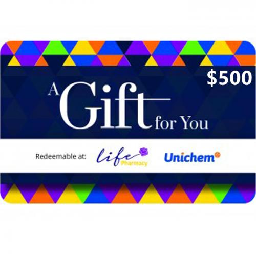 Pharmacy Physical Gift Card $500 NZD 预付充值礼品卡,物理卡需快递,闪电发货!