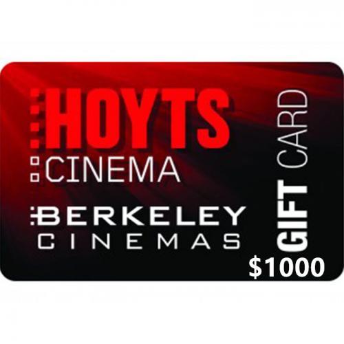 Hoyts Cinemas Physical Gift Card $1000 NZD 预付充值礼品卡,物理卡需快递,闪电发货!