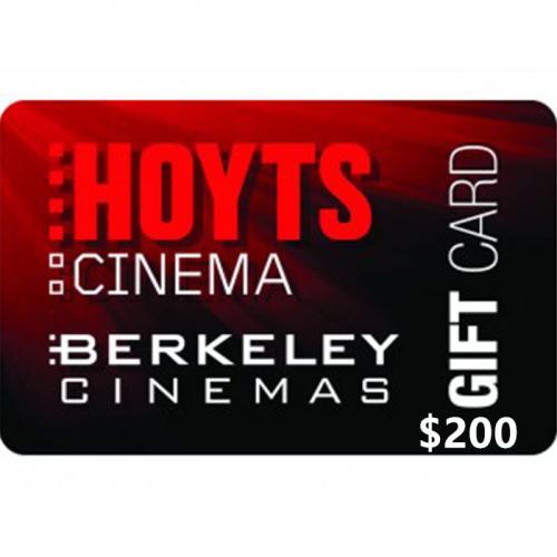 Hoyts Cinemas Physical Gift Card $200 NZD 预付充值礼品卡,物理卡需快递,闪电发货!