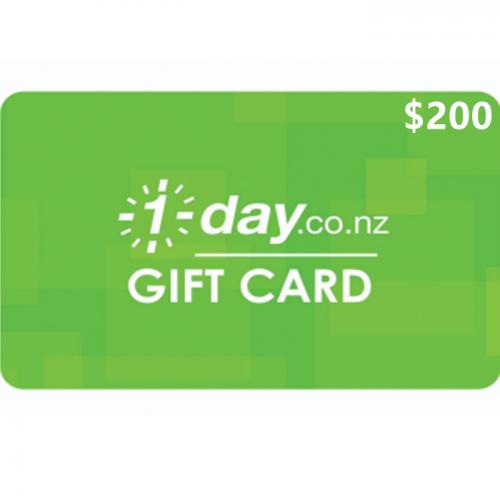 1 Day Physical Gift Card $200 NZD 预付充值礼品卡,物理卡需快递,闪电发货!