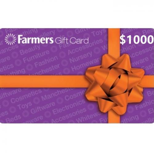 Farmers Physical Gift Card $1000 NZD 预付充值礼品卡,物理卡需快递,闪电发货!