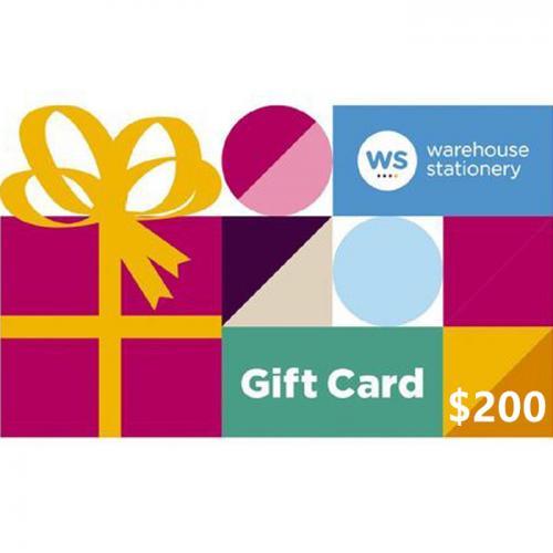 Warehouse Stationery Physical Gift Card $200 NZD 预付充值礼品卡,物理卡需快递,闪电发货!