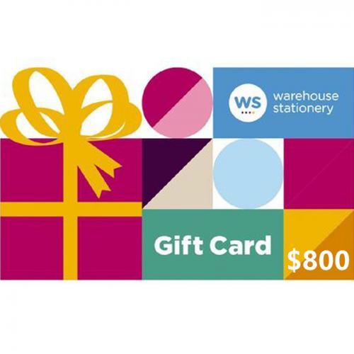 Warehouse Stationery Physical Gift Card $800 NZD 预付充值礼品卡,物理卡需快递,闪电发货!