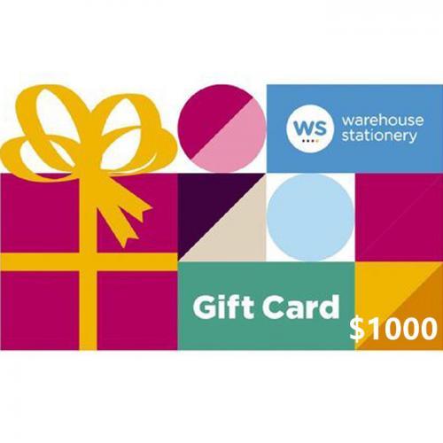 Warehouse Stationery Physical Gift Card $1000 NZD 预付充值礼品卡,物理卡需快递,闪电发货!